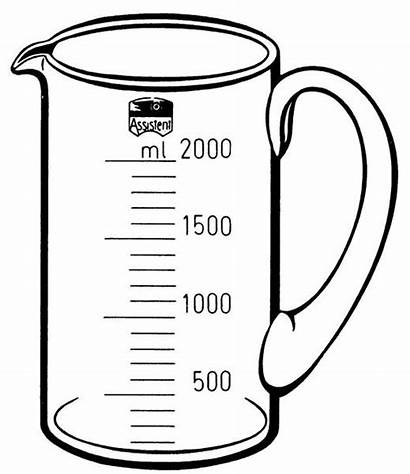 Measuring Jug Clipart Liters Jugs Clip Capacity