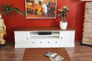 Lowboard Weiß Landhaus : sideboard tv hifi unterschrank 200cm lowboard holz massiv wei braun landhaus ebay ~ Whattoseeinmadrid.com Haus und Dekorationen