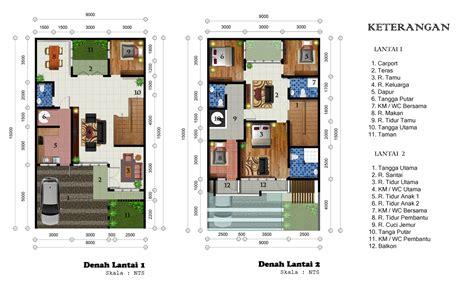 desain rumah      lantai minimalis tropis