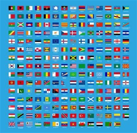 set vektor bendera dunia vektor misc vektor gratis