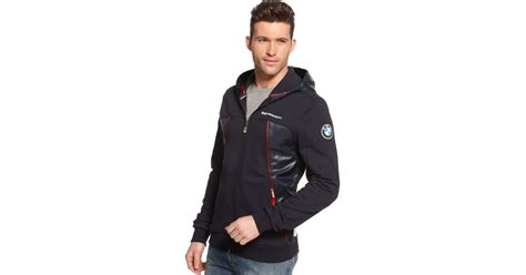 Puma Bmw Hooded Sweat Jacket In Blue For Men