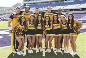 West Virginia College Football Cheerleaders
