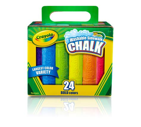 crayola sidewalk chalk  count crayola