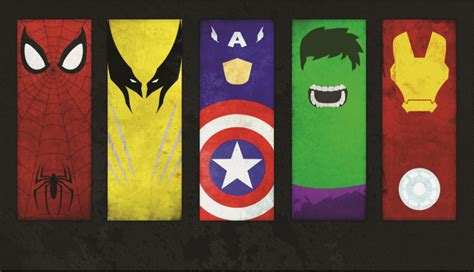free shipping avengers marvel superhero logo poster hd