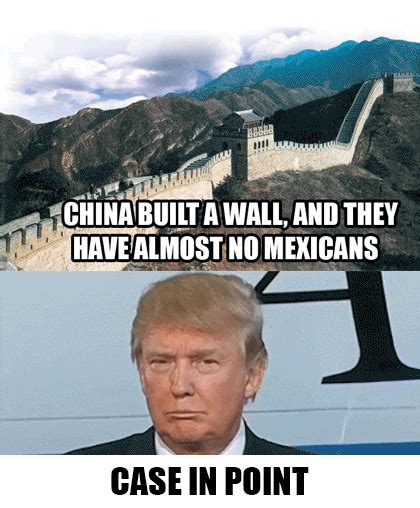 Trump Mexican Memes - case in point china built a wall and they have almost no mexicans donald trump s wall know