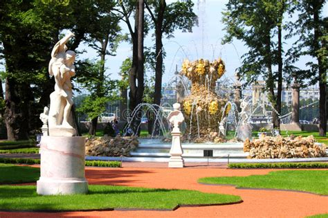 Renovated Summer Garden Park In St Petersburg Stock