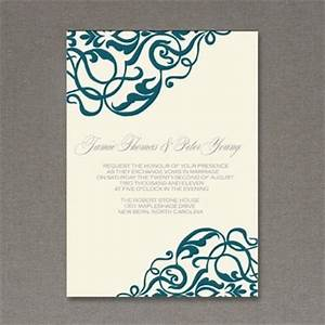Scroll wedding invitations template best template collection for Free printable scroll wedding invitations