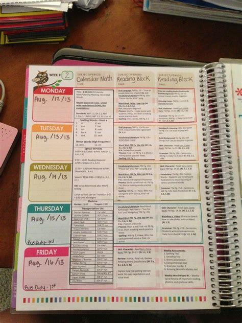 erin condren teacher planner lesson plan template erin