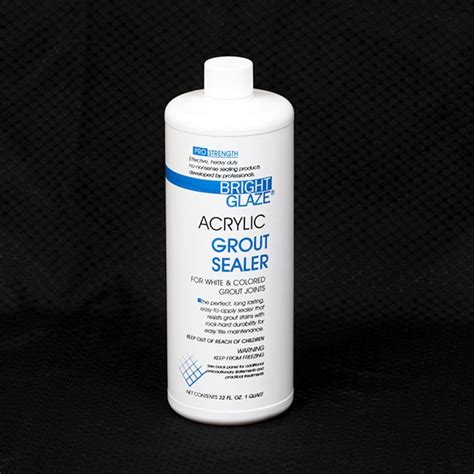 grout sealer bright glaze acrylic tile grout sealer quart