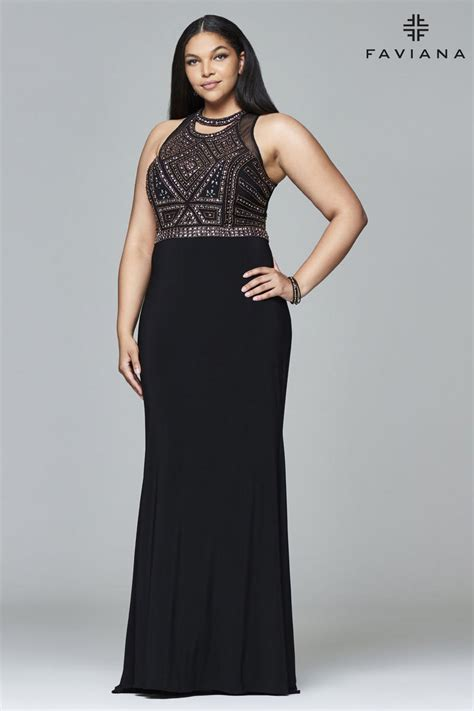 faviana curve  beaded  size prom gown french novelty