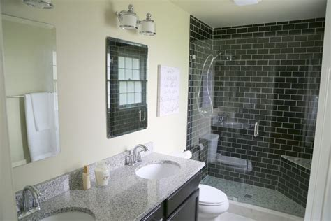 reasons    black subway tile   bathroom