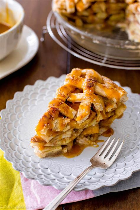 Salted Caramel Apple Pie by Salted Caramel Apple Pie Sallys Baking Addiction