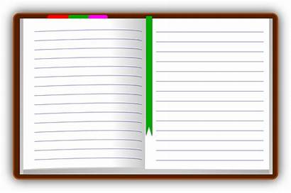 Clipart Diary Open Notebook Clip Notepad Transparent