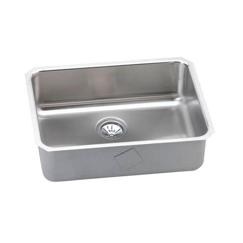 elkay stainless steel kitchen sinks elkay gourmet undermount stainless steel 25 5 in 0 8866