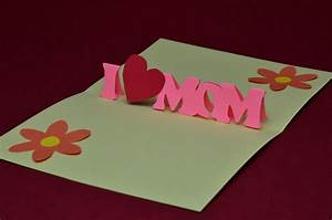 Free mothers day pop up card template and tutorial for Creative pop up cards templates free