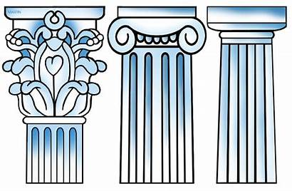Greek Columns Clip Clipground Architecture