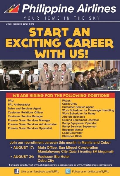 philippine airlines pal  pal express job opening