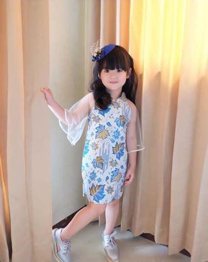 model baju batik anak perempuan terbaru modern