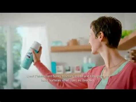 TV Commercial Lysol Disinfectant Spray Air Freshening
