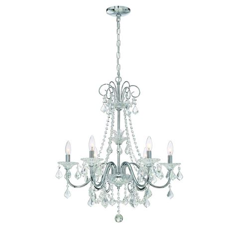 home lighting chandeliers home decorators collection 6 light chrome