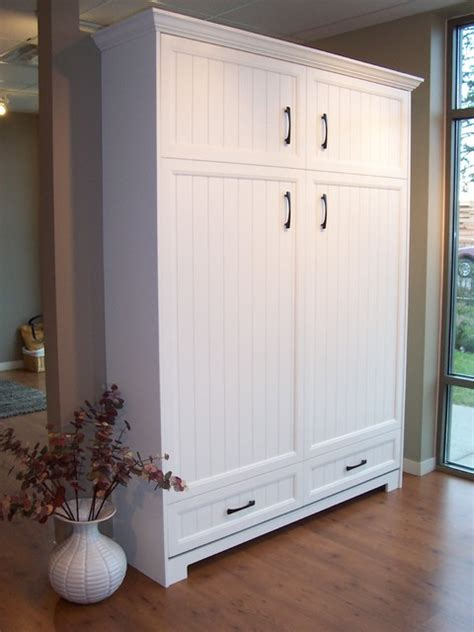 White Murphy Bed by Murphy Bed Hardware Inc Traditional Murphy Beds