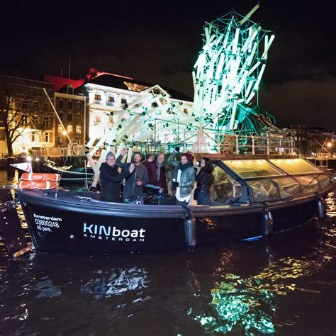 Small Boat Amsterdam by Amsterdam Light Festival Small Boat Canal Cruise