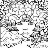 Coloring Behance Adult Flowers Vectors Stockunlimited Pretty sketch template