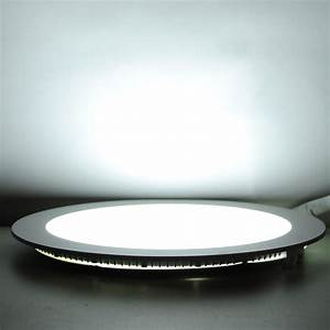 W led round recessed ceiling flat panel down light