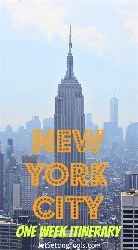 Apartment One Week New York by New York City One Week Itinerary Jetsetting Fools