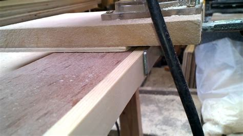trimming solid wood edging flush  plywood   router trimmer homemade jig youtube