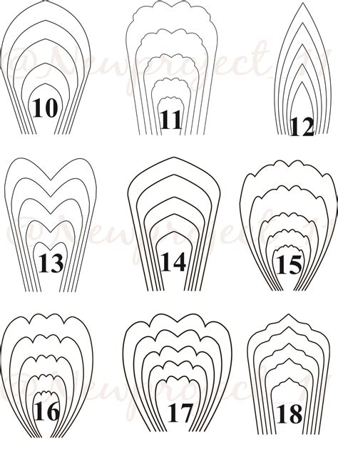 Paper Flower Template Jual Template Large Paper Flower Newproject 11