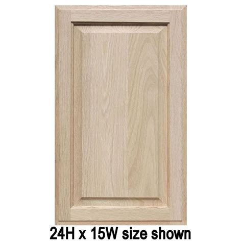 Panel Cupboard Doors by Unfinished Oak Cabinet Doors Square With Raised Panel Up