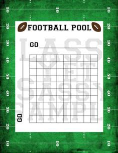Www Free Office Football Pool by Free Printable Football Squares Grid Visit Our Store To