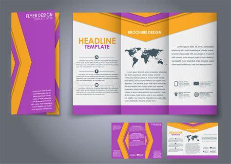 Template Folding Brochure Design Style Material Template Folding Brochures Stock Vector