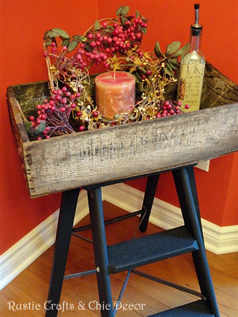 hometalk step ladder makeover  crate fun tray table