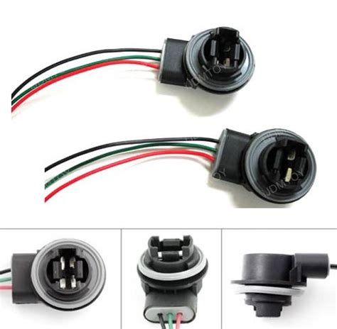 ijdmtoy 3156 3157 wiring harness sockets for led bulbs