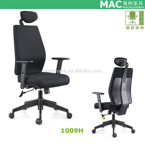 durable wooden fabric office chair with neck support 1009h