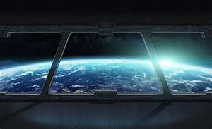 View Of Planet Earth From Inside A Space Station 3D ...