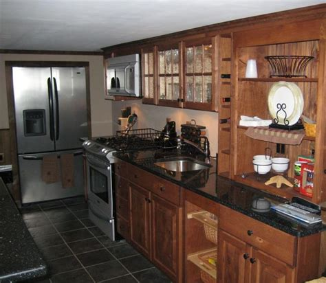 breathtaking simple country kitchen cabinet with black