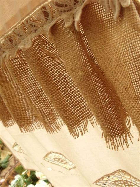 shabby chic burlap curtains   burlap curtains   Pinterest