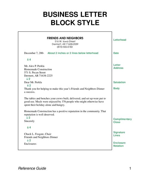 sle business letter formal letter sle business letterblocks style edit 9103