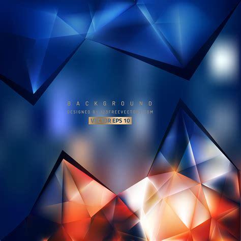 abstract dark blue orange triangle polygonal background