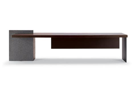 Desk Ho Desk With Stone Inlay, Poltrona Frau