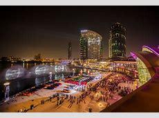 Iconic supercars form the UAE flag at Dubai Festival City