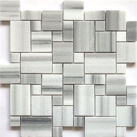 Lowes Canada Backsplash Tile by Faber 13 In Equator Marble Mini Pattern Mosaic