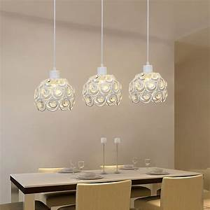 Led pendant lamp three head light dining room modern brief