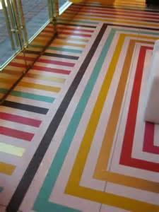 rainbow stripe floor decor hacks