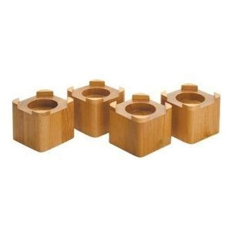 target bed risers 4 1 2 inch by 4 1 2 inch wood bed risers lifts honey oak