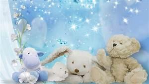 Blue Teddy Bear Wallpaper