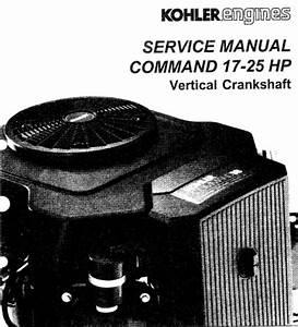 Kohler Command 17 25 Hp Repair Service Manual Vertical